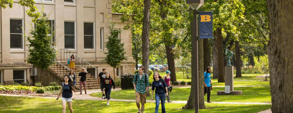 Beloit College Students on Campus