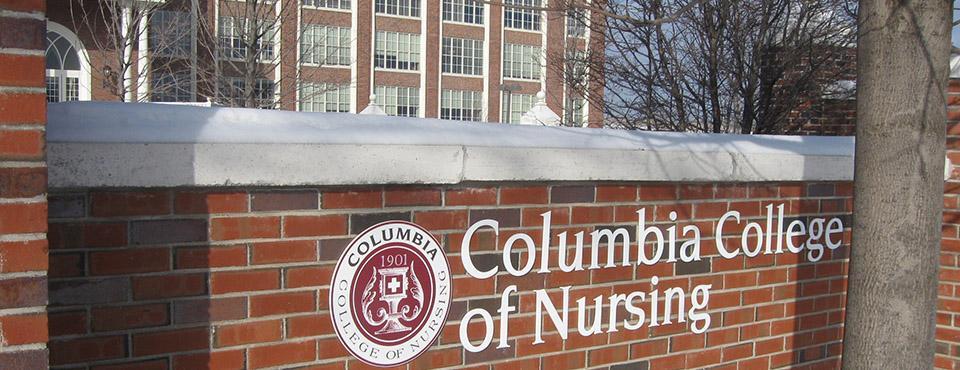 Columbia College of Nursing sign