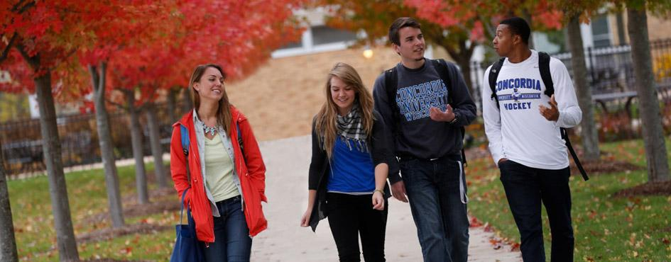 Concordia students in fall