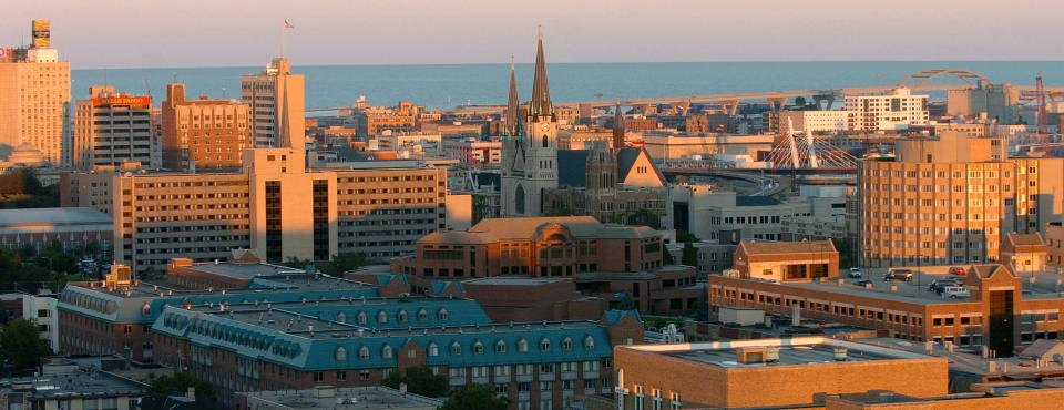 Marquette aerial view of campus