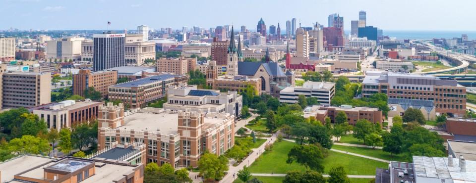Marquette campus aerial