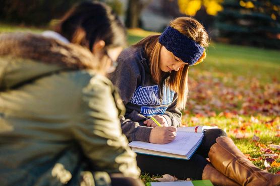 Mount Mary students outdoors