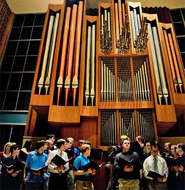 Music class with pipe organ