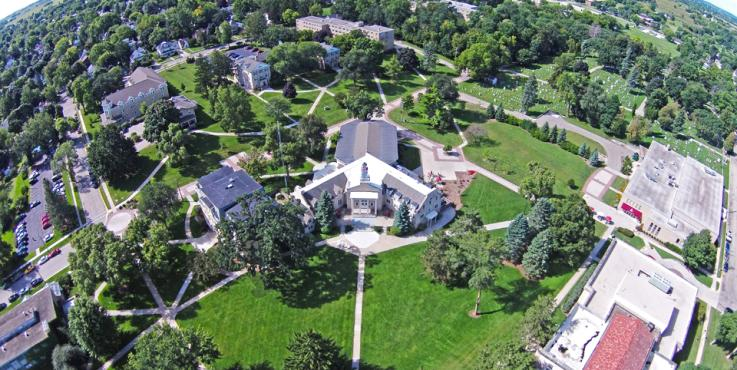 Ripon College aerial view