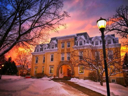 Ripon campus in winter