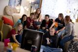 Marian students in dorm